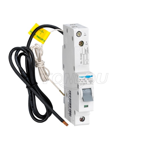 1P+N 32A 30mA RCBO Residual Current Circuit Breaker with Overcurrent Protection