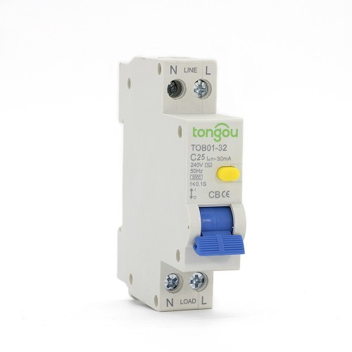 1P+N RCBO 32A 30mA  Circuit Breaker with Overcurrent Protection