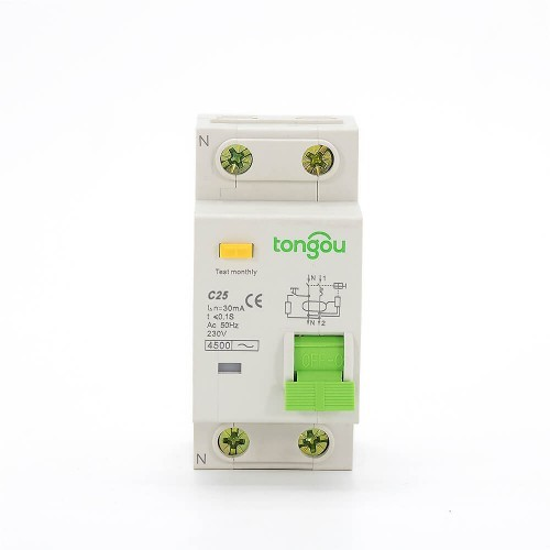 TOB10-63 25A 30mA Residual Current Circuit Breaker with Overcurrent Protection(RCBO)