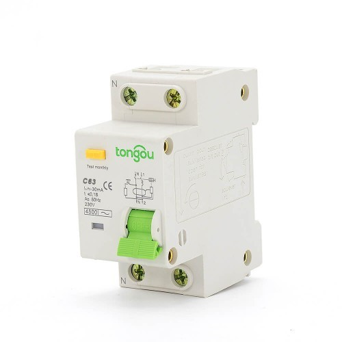63 Amp RCBO Residual Current Circuit Breaker with Overcurrent Protection