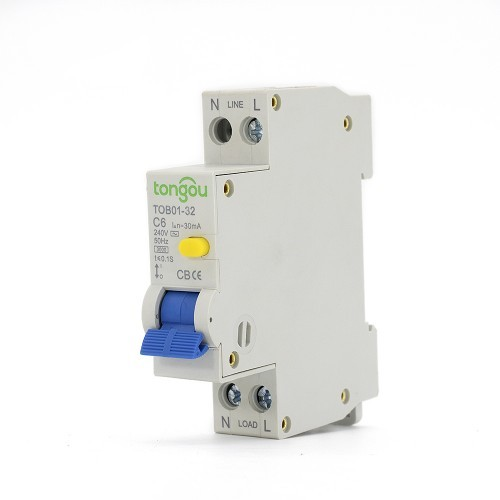 TOB01-32 240V 6 Amp RCBO Residual Current Circuit Breaker with Overcurrent Protection