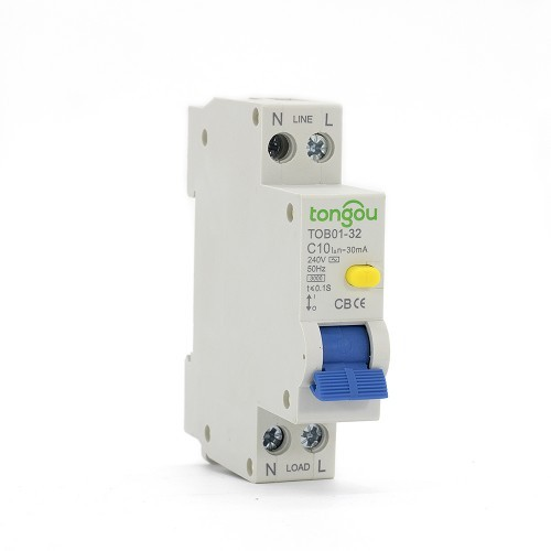 10 Amp RCBO Residual Current Circuit Breaker with Overcurrent Protection