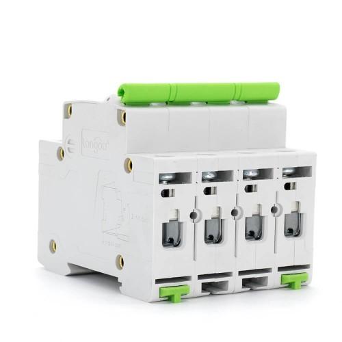 TOMC3-63 3KA 110V 220V Curve C 4P 16A Mini Circuit Breaker MCB