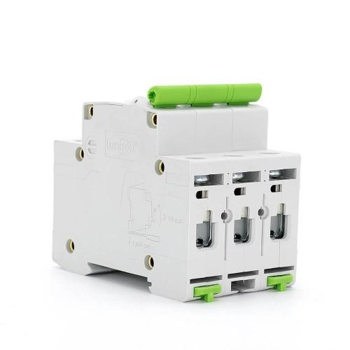 TOMC3-63 3KA 110V 220V Curve C 3P 40A Mini Circuit Breaker MCB