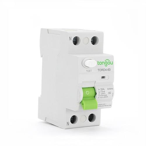 2P 25A 10mA Rccb Type AC/A Residual Current Circuit Breaker RCD TORD4-63