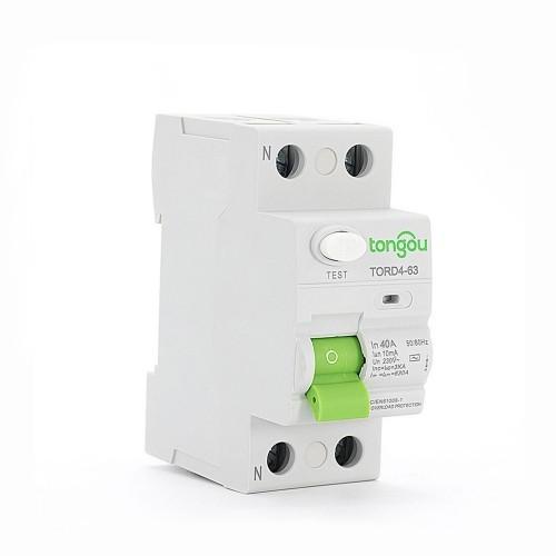 2P RCCB 40 Amp 10mA A/AC Type  Residual Current Circuit Breaker