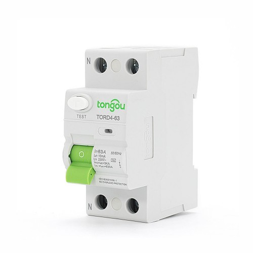2P 63A RCCB 10mA A/AC Type Residual Current Circuit Breaker  RCD TORD4-63