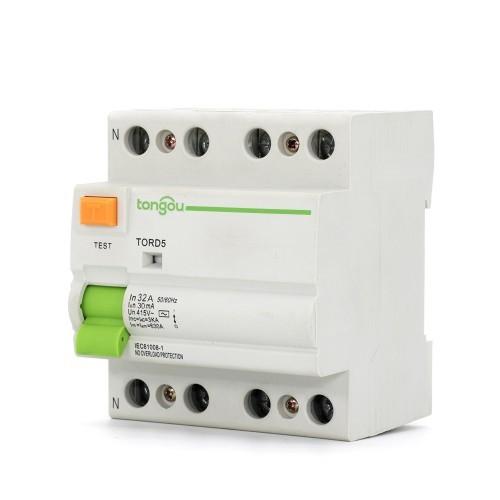 4P 32A RCCB RCD 30mA A/AC Residual Current Circuit Breaker TORD5-63
