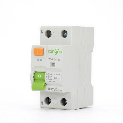 2P RCCB 63A 30mA A/AC Type Residual Current Circuit Breaker TORD5-63