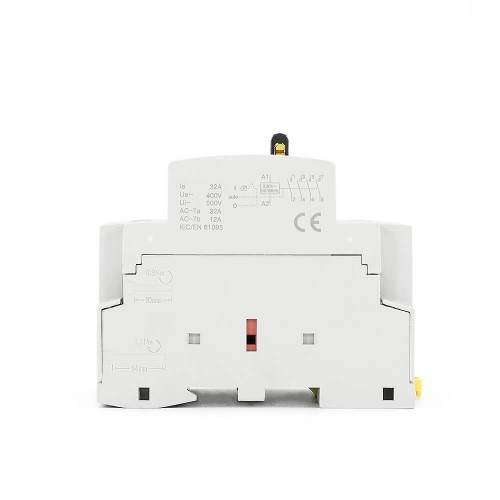 32A 4NO CE CB 4 pole contactor Din Rail Household Modular Contactor With Manual Control Switch TOWCTH-32/4