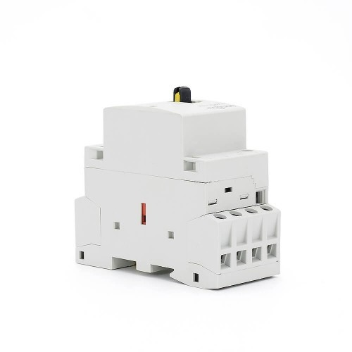 4 Pole Contactor 230v Coil AC 25A 4NO CE CB Din Rail Household Modular  With Manual Control Switch TOWCTH-25/4
