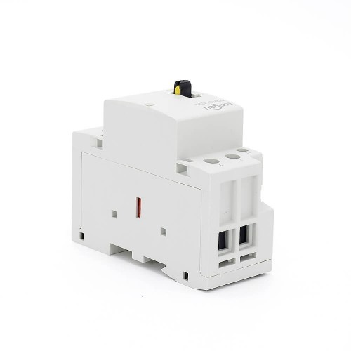 63A 2 Pole Contactor AC 2NO CE CB Din Rail Household Modular 220V/230V With Manual Control Switch TOWCTH-63/2
