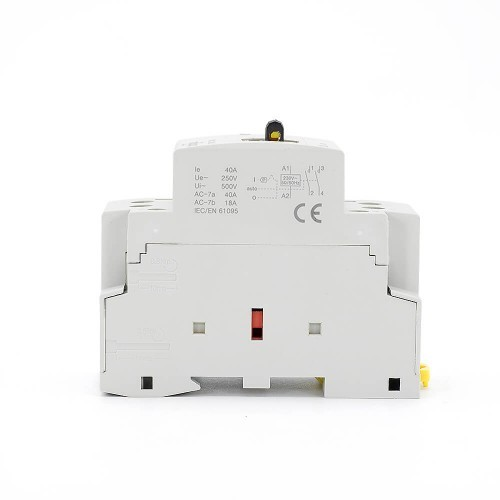 2 Pole 40 amp Contactor AC 2NO CE CB Din Rail Household Modular  With Manual Control Switch TOWCTH-40/2