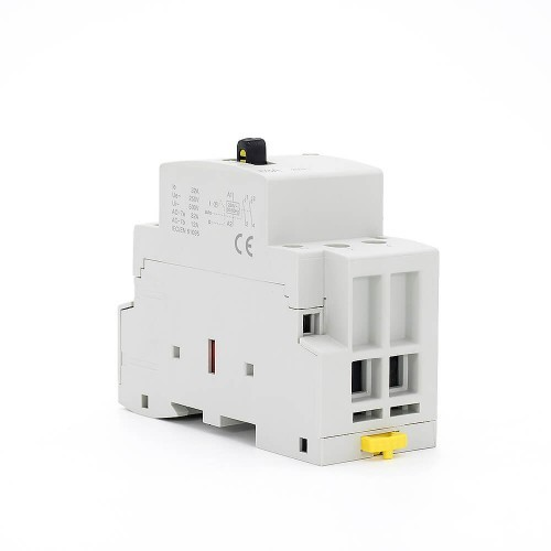 32 amp 2 Pole Contactor AC 2NO CE CB Din Rail Household Modular With Manual Control Switch TOWCTH-32/2