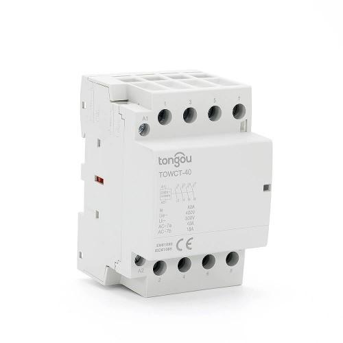 4P 40 Amp Contactor AC 4NO Din Rail Household Modular TOWCT-40/4