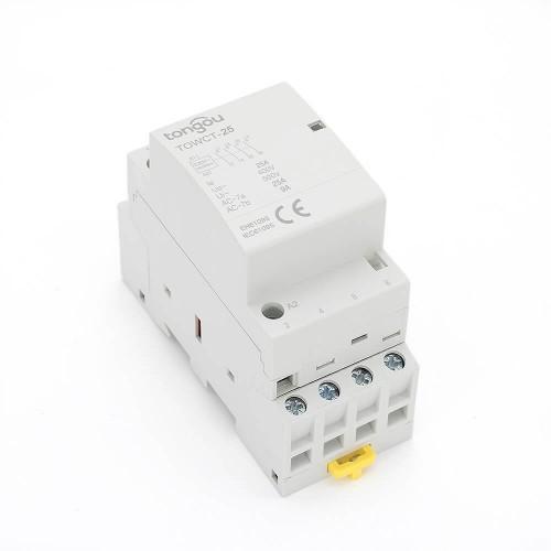 4P Contactor 25 Amp AC 4NO Din Rail Household Modular TOWCT-25/4