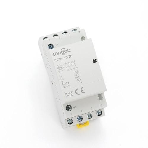 20 Amp 4 Pole Contactor AC 4NO Din Rail Household Modular TOWCT-20/4