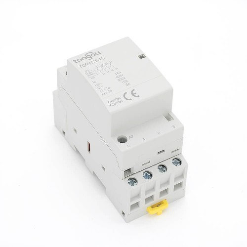 4 Pole 16 Amp Contactor AC 4NO Din Rail Household Modular 220V/230V/400V TOWCT-16/4
