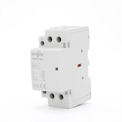 63 Amp 2 Pole Contactor AC 2NO Din Rail Household Modular TOWCT-63/2