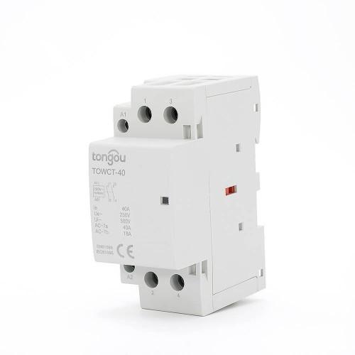 2 Pole Contactor 40A AC 2NO Din Rail Household Modular TOWCT-40/2
