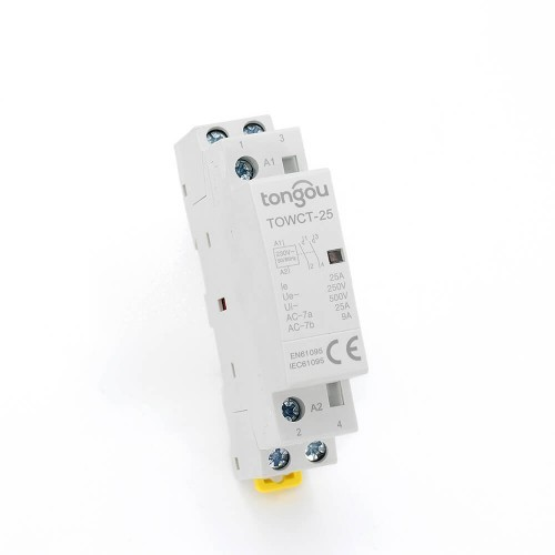 25 amp 2 Pole Contactor AC 2NO CE CB Din Rail Household Modular 220V/230V TOWCT-25/2