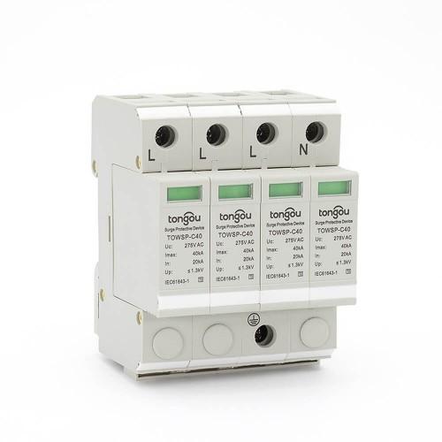 SPD Device 20KA~40KA AC 4P Surge Protector | Arrester Device