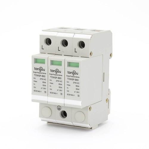 SPD 3P 30KA~60KA 3 Phase Surge Protector House Protection Protective Low-voltage Arrester Device