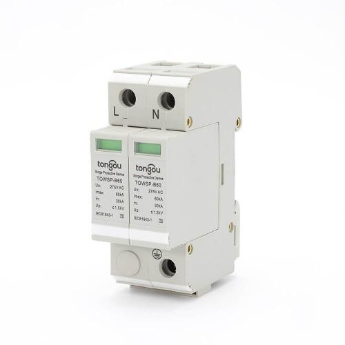 SPD 1P N 30KA~60KA Best Power Surge Protector UK House Protection Low-voltage Arrester Device