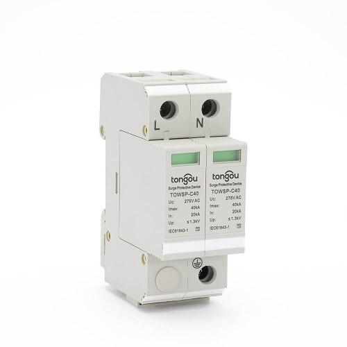 SPD 1P+N 20KA~40KA Best Power Surge Protector House Protective Low-voltage Arrester Device