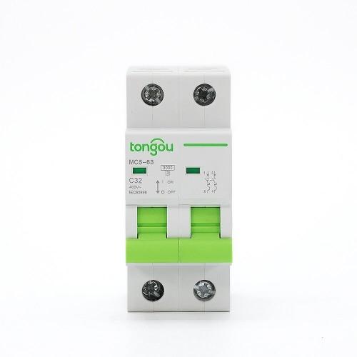 TOMC5-63 3KA 110V 220V Curve C 2P 32A Mini Circuit Breaker MCB