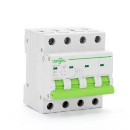 TOMC5-63 3KA 110V 220V Curve C 4P 32A Mini Circuit Breaker MCB
