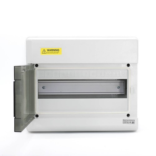 12 Ways IP66 PC Waterproof Distribution Box Switch Box Breaker Box