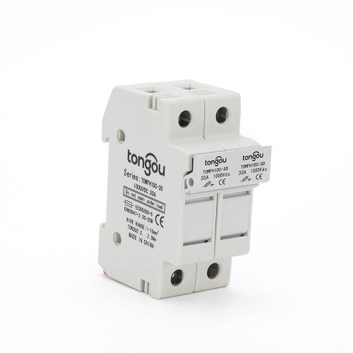 2 Pole Solar PV String Fuse 3A 10A 15A 20A 25A 30A DC 1000V For Solar Photovoltaic System 10*38 mm