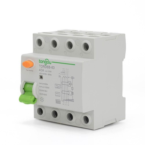 4 Pole RCCB RCD Residual Current Circuit Breaker TORD6B-63