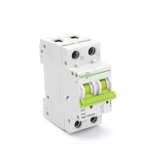 TOMC7-63 2P 63A DC Mini Circuit Breaker for Solar Energy MCB