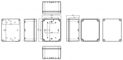 IP67 170*140*95 mm Waterproof Electrical Plastic Junction Box ABS TOM3-171409-TONGOU Electrical