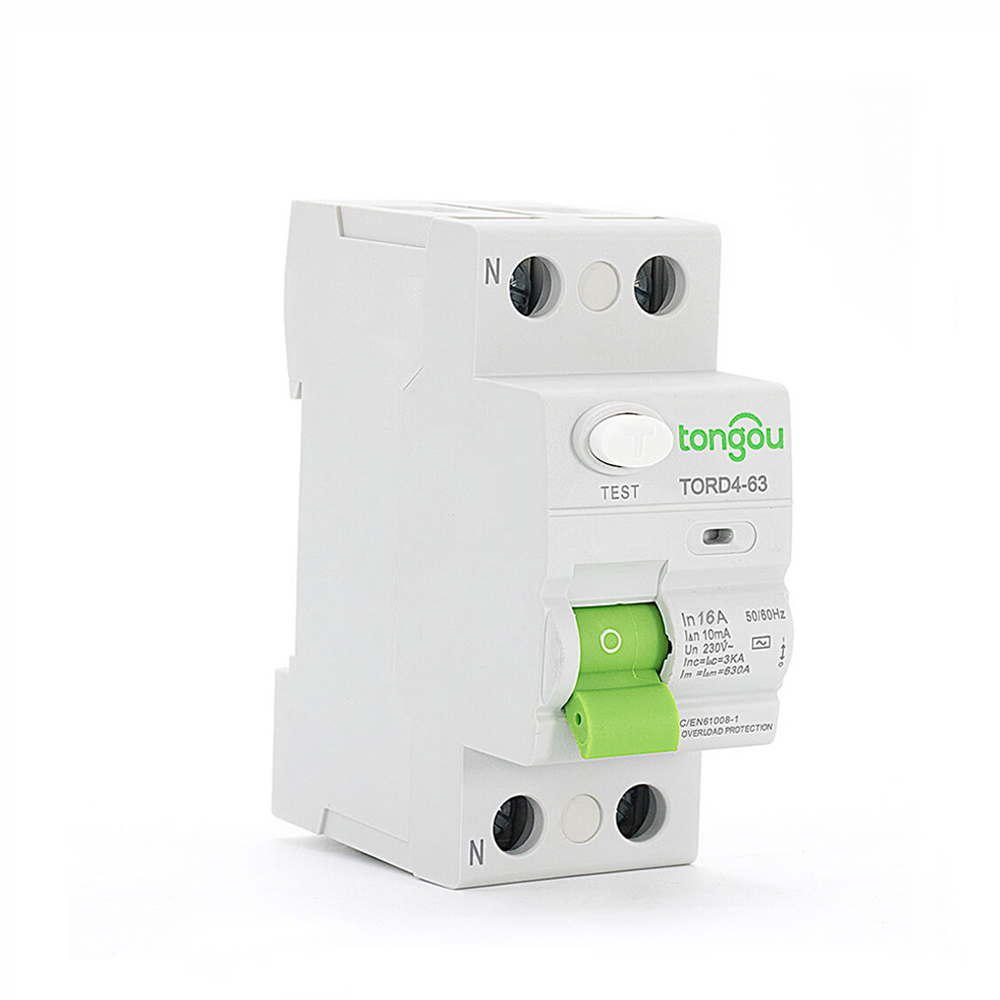 TORD4-63 2P 16A 10mA Electronic Type Residual Current Circuit Breaker RCCB RCD