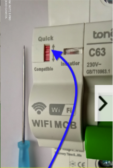 Schematic diagram of the use of wifi circuit breaker