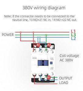 contactor wiring diagram