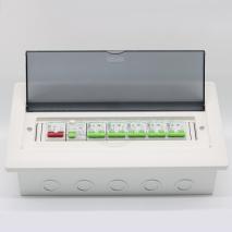 TOU1-M1-14AT Power consumer unit 2P 63A Main switch, 2P 63A RCD, 2P MCBs